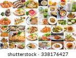 collage of food menu asian ... | Shutterstock . vector #338176427