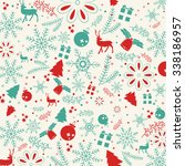 christmas elements  with text... | Shutterstock .eps vector #338186957