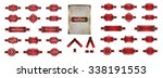 luxury red silver premium... | Shutterstock .eps vector #338191553