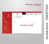 website design template with... | Shutterstock .eps vector #338207003