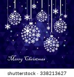 christmas ball made from... | Shutterstock .eps vector #338213627