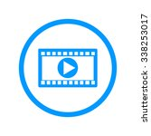 video icon. flat design style.
