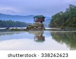 lonely house on the river drina ... | Shutterstock . vector #338262623
