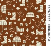 autumn seamless pattern with... | Shutterstock .eps vector #338276783