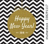 happy new year 2016 card with... | Shutterstock .eps vector #338291117