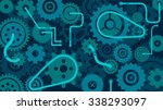 train of gears  trundles and... | Shutterstock .eps vector #338293097
