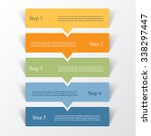 vector lines arrows infographic.... | Shutterstock .eps vector #338297447