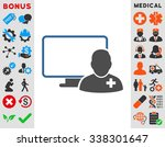 online doctor vector icon with... | Shutterstock .eps vector #338301647