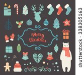 merry christmas decoration... | Shutterstock .eps vector #338305163