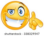 cool emoticon pointing at you | Shutterstock .eps vector #338329547
