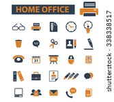 home office  supplies  time... | Shutterstock .eps vector #338338517