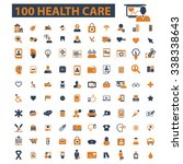 health care  medicine  icons ... | Shutterstock .eps vector #338338643