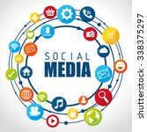 social media design with... | Shutterstock .eps vector #338375297