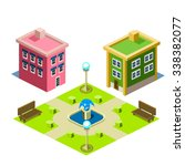 house and park building icon...   Shutterstock .eps vector #338382077