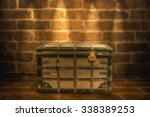 Wooden Chest In A Room On A...