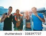 portrait of ecstatic young... | Shutterstock . vector #338397737