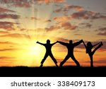 concept of success. silhouette... | Shutterstock . vector #338409173
