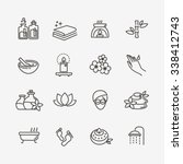spa icons | Shutterstock .eps vector #338412743
