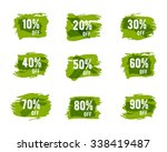 christmas sale tags  green ... | Shutterstock .eps vector #338419487
