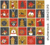 advent calendar. christmas... | Shutterstock .eps vector #338425193