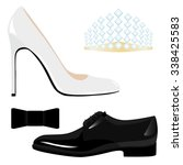 male  female classic shoes and  ... | Shutterstock .eps vector #338425583