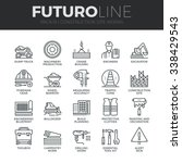 modern thin line icons set of... | Shutterstock .eps vector #338429543