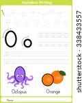 alphabet a z tracing worksheet  ... | Shutterstock .eps vector #338433557