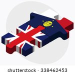 united kingdom and wake island... | Shutterstock .eps vector #338462453