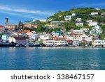 view of the island grenada  st. ... | Shutterstock . vector #338467157