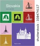 landmarks of slovakia. set of... | Shutterstock .eps vector #338474117