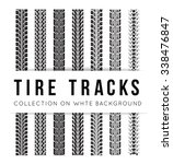 tire track background | Shutterstock .eps vector #338476847