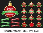 holiday   christmas sale badge... | Shutterstock .eps vector #338491163