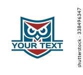 owl shield emblem | Shutterstock .eps vector #338496347
