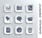 web icons set   white app...