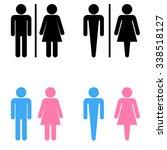 toilet sign set | Shutterstock .eps vector #338518127