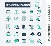 seo optimization  icons  signs... | Shutterstock .eps vector #338533787