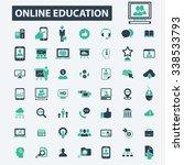 online education  learning ... | Shutterstock .eps vector #338533793