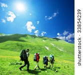 people in mountains   Shutterstock . vector #33854239