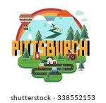 pittsburgh beautiful city to... | Shutterstock .eps vector #338552153