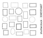 hand drawn frames set. cartoon... | Shutterstock .eps vector #338555687