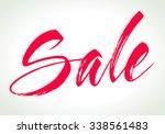 sale calligraphy background.... | Shutterstock .eps vector #338561483