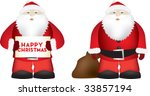 illustration of a bit fat santa ... | Shutterstock .eps vector #33857194