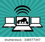 technology concept with devices ... | Shutterstock .eps vector #338577347