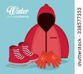 winter concept with sport icons ... | Shutterstock .eps vector #338577353