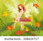 Illustration Of Cute Fairy...
