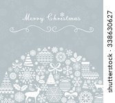 christmas greeting card.... | Shutterstock .eps vector #338630627