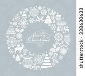 christmas greeting card.... | Shutterstock .eps vector #338630633