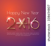 happy new year 2016 text design.... | Shutterstock .eps vector #338654807