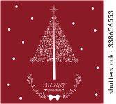 christmas tree | Shutterstock .eps vector #338656553