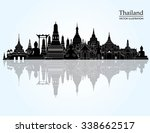 thailand detailed skyline.... | Shutterstock .eps vector #338662517